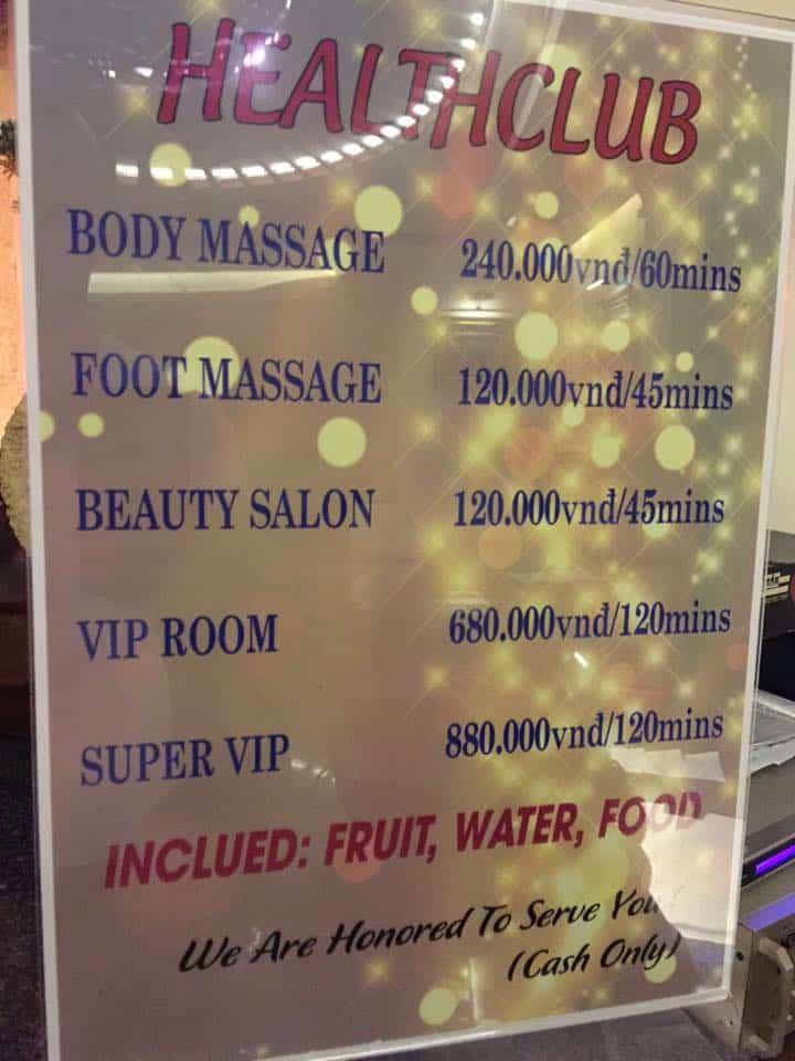 massages in vietnam, 6 Happy Massages in Vietnam