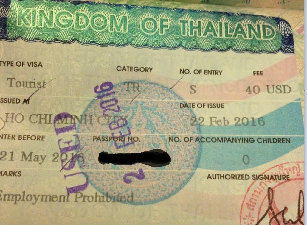 , Getting a Thai Tourist Visa in Ho Chi Minh City