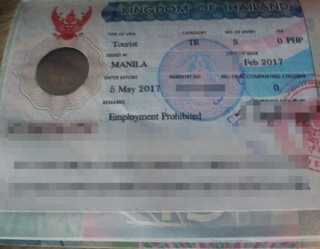 thai tourist visa manila